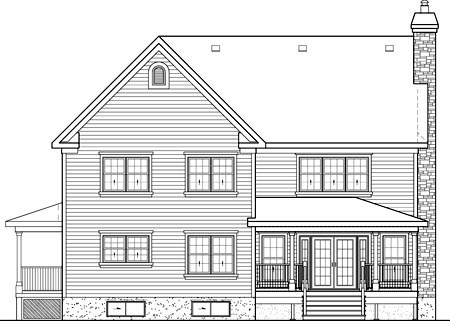 House Plan 52585 Rear Elevation