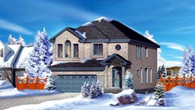 House Plan 52586 | Style Plan with 2705 Sq Ft, 4 Bedrooms, 3 Bathrooms, 2 Car Garage Elevation