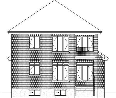 House Plan 52586 Rear Elevation