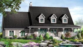House Plan 52587 Elevation