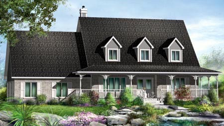 House Plan 52587 Elevation