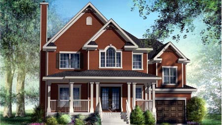 House Plan 52588 Elevation