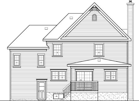House Plan 52588 Rear Elevation