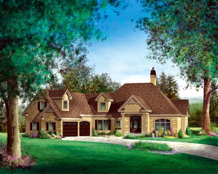 House Plan 52591 Elevation