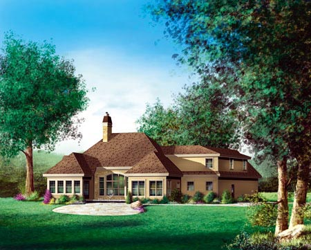 House Plan 52591 Rear Elevation