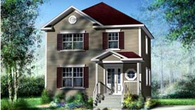 House Plan 52593 Elevation