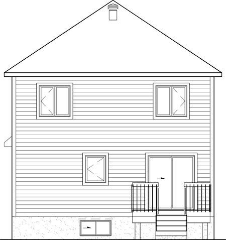 House Plan 52593 Rear Elevation