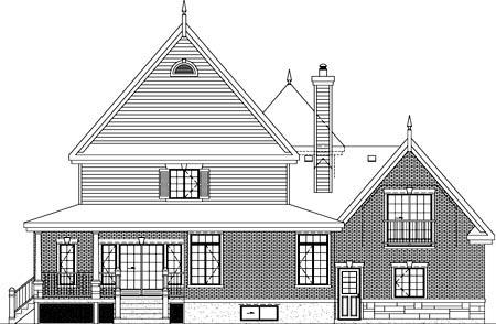 House Plan 52595 Rear Elevation