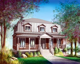 House Plan 52597 Elevation