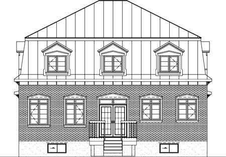 House Plan 52597 Rear Elevation