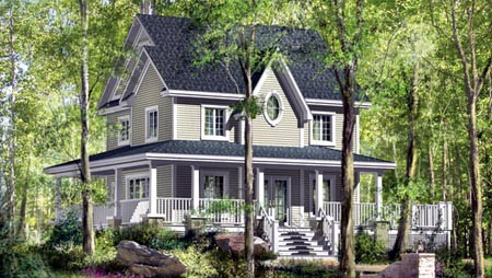House Plan 52598 Elevation