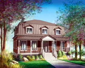 House Plan 52599 Elevation