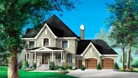 House Plan 52600 Elevation