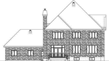 House Plan 52600 Rear Elevation