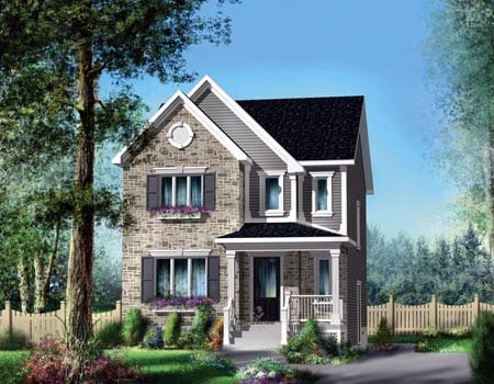 House Plan 52601 with 3 Beds, 2 Baths Elevation