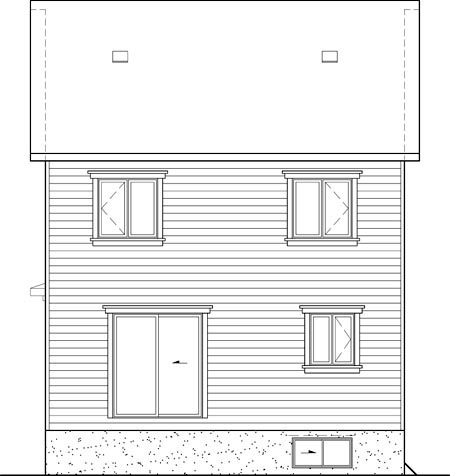 House Plan 52601 Rear Elevation