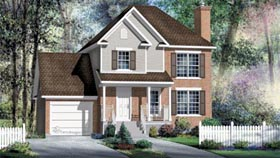 House Plan 52604 | Style Plan with 1649 Sq Ft, 3 Bedrooms, 2 Bathrooms, 1 Car Garage Elevation