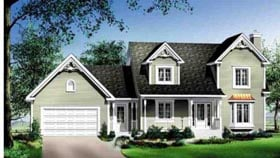 House Plan 52605 | Style Plan with 1751 Sq Ft, 3 Bedrooms, 3 Bathrooms, 1 Car Garage Elevation