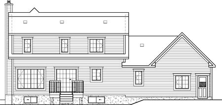 House Plan 52605 Rear Elevation