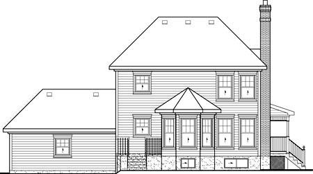 House Plan 52607 Rear Elevation