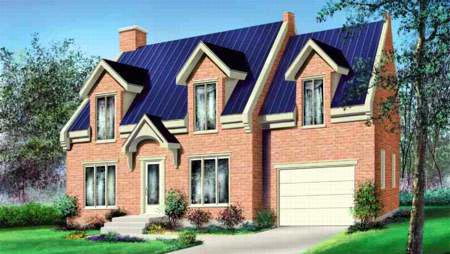 House Plan 52611 Elevation