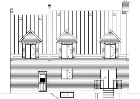 House Plan 52611 Rear Elevation