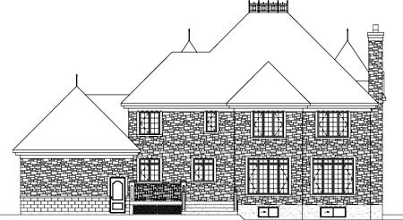 House Plan 52614 Rear Elevation
