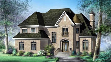 House Plan 52616 Elevation