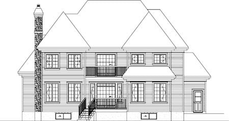 House Plan 52616 Rear Elevation