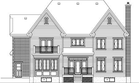House Plan 52618 Rear Elevation