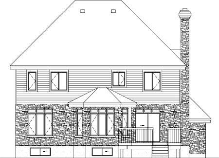 House Plan 52620 Rear Elevation