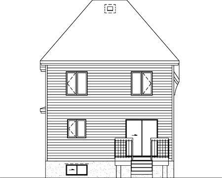 House Plan 52623 Rear Elevation