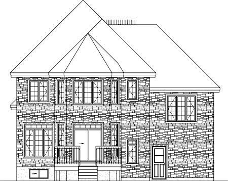 House Plan 52624 Rear Elevation