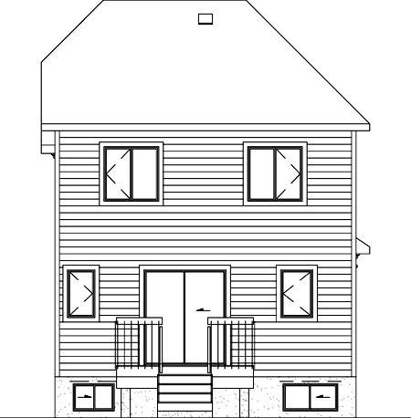 House Plan 52625 Rear Elevation