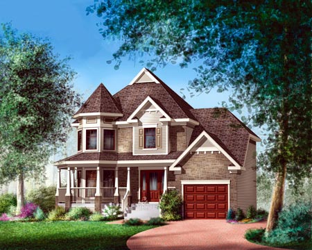 House Plan 52626 with 3 Beds, 2 Baths, 1 Car Garage Elevation