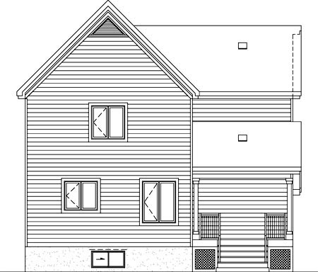 House Plan 52627 Rear Elevation