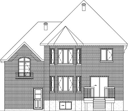 House Plan 52629 Rear Elevation