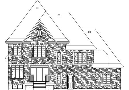 House Plan 52630 Rear Elevation
