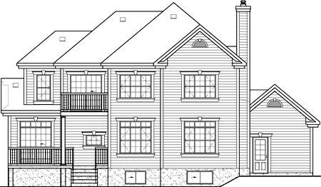 House Plan 52633 Rear Elevation