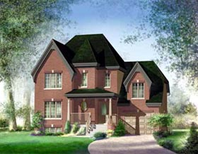 House Plan 52634 | Style Plan with 1753 Sq Ft, 3 Bedrooms, 2 Bathrooms, 1 Car Garage Elevation