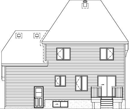 House Plan 52634 Rear Elevation