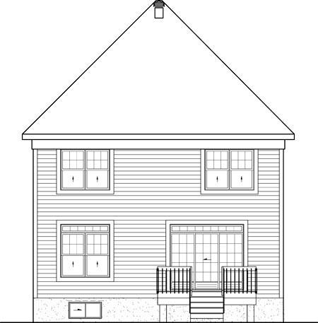 House Plan 52635 Rear Elevation