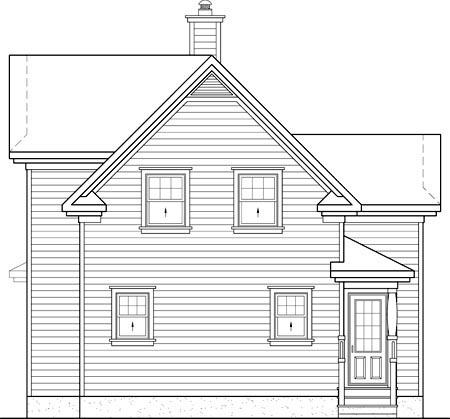 House Plan 52636 Rear Elevation