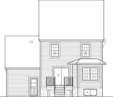 House Plan 52637 Rear Elevation