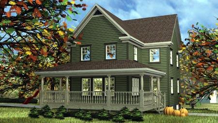 House Plan 52638 Elevation