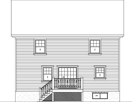 House Plan 52638 Rear Elevation