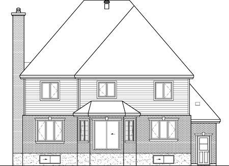 House Plan 52640 Rear Elevation