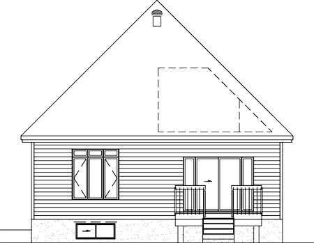 House Plan 52641 Rear Elevation