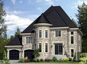 House Plan 52643 with 4 Beds, 3 Baths, 2 Car Garage Elevation