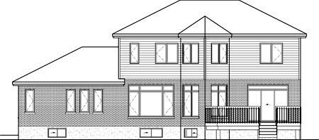 House Plan 52644 Rear Elevation